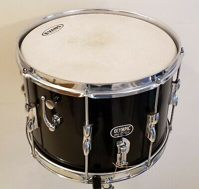 VTG OLYMPIC PREMIER SNARE DRUM DUAL SNARES 14x10 W/TRAVEL CASE - Rare Museum