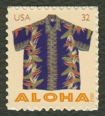 #4594 32c Aloha Shirts: Birds of Paradise, Mint ANY 4=