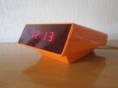 VINTAGE REVEIL DIGITAL DESIGN CLE-SA POP ORANGE SPACE AGE 70's ALARM CLOCK