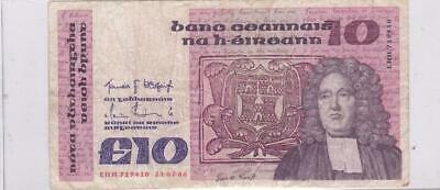 21.02.86 Central Bank Of Ireland 10 Pounds