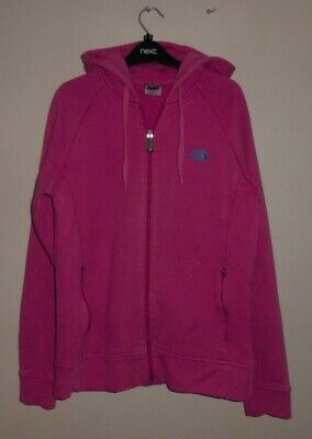 The North Face Girls Stylish Pink Zip Up Hoodie Age 14-15 Years - L/G