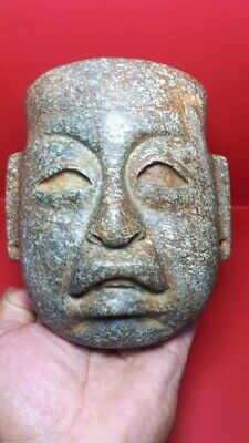 Pre-Columbian Olmec Stone mask from Mexico. Ca. 400 BC.