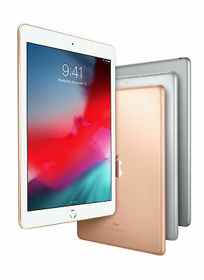 Apple iPad 6th Gen 32GB 128GB Wifi +Cellular Unlocked, 9.7in - All Colors