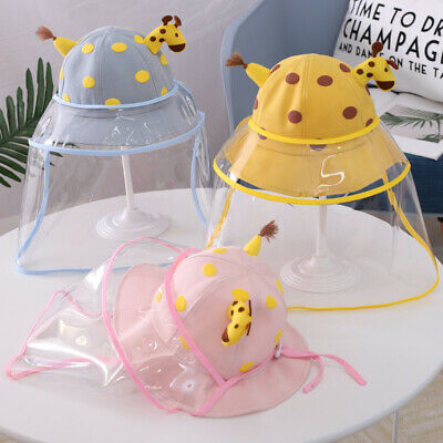 Kids sun hat Protective cap Face Shield Safety Cartoon Face Protection