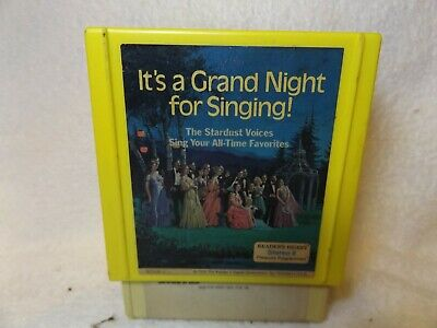 Vintage 8 Track Tapes It's A Grand Night For Singing 3 Tape Set-Readers Digest