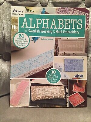 Needlework Alphabets Fir Swedish Weaving & Huck Embroidery Free Postage