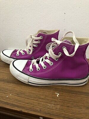 Converse All Star High Top Sz UK 3 EUR 35 Ladies Girls Purple Pink Trainers VGC