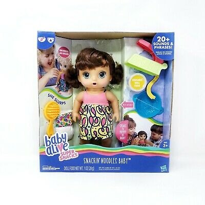 New in  Box Baby Alive Super Snacks Noodles Baby - Brunette Free Shipping