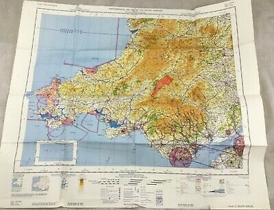 1966 Vintage Military Map of South Wales UK Topographical Chart RAF