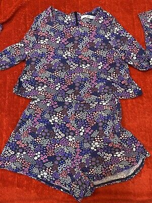 M & S Kids Girls Floral Playsuit Age 9-10 Years Old