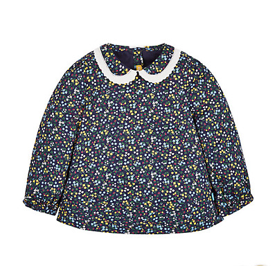 Little Bird Jools Oliver Blue Ditsy Floral Long Sleeve Collar Top Age 4-5 Years