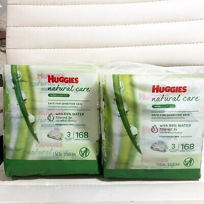 Huggies Natural Care Sensitive Baby Wipes, Unscented, 6 Flip-Top Packs (336 W)