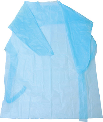 15 pack Impervious Isolation Gown Polyethylene Open Back Thumb Loop hospital
