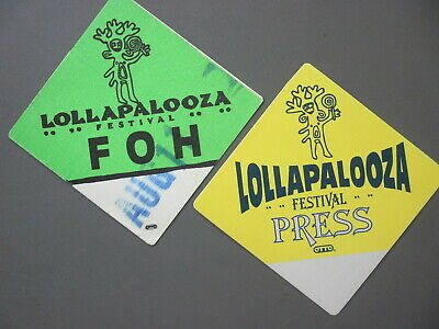 Lollapalooza backstage pass satin cloth stickers TWO don't know the year