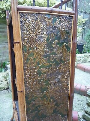 Antique Bamboo Bookcase