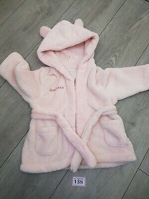 Girls 6-12 Months Personalised Dressing Gown Francesca