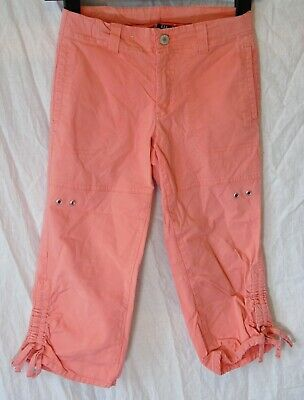 Girls Gap Dusky Coral Pink Pedal Pushers Cropped Capri Trousers Age 10 Years