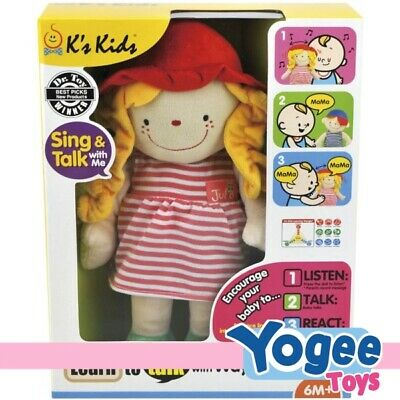 K's Kids Learn to Talk with Julia Plush Doll