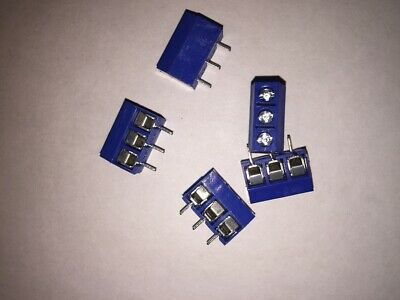 3 Way 5.00 mm Pitch PCB Mount Screw Terminal Block Connector x 5  UK Seller