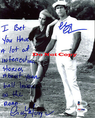 Chevy Chase & Cindy Morgan Caddyshack autographed Signed 8x10 photo RP