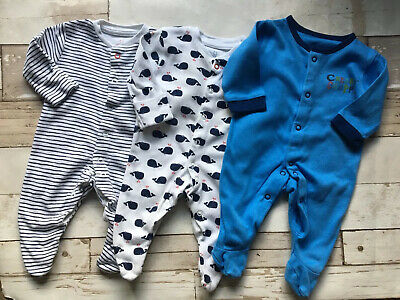 Babygrow Ahoy Matey Baby Boys Sleepsuit All in one Ex Next