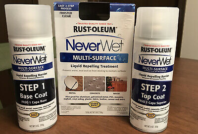 Rust-Oleum Never Wet Multi-Surface Liquid Repelling Treatment, Frosted Clear