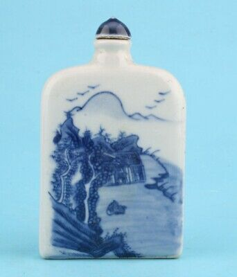 Chinese Porcelain Snuff Bottle Painting Landscape Craft
