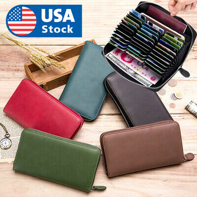 Genuine Leather Passport Holder Wallet  Travel Document ID Card Organizer Bag