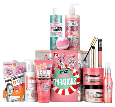 Soap & Glory SWEET TIN-TATIONS Gift Set - 11 Full Size Items Worth Over £80 NEW