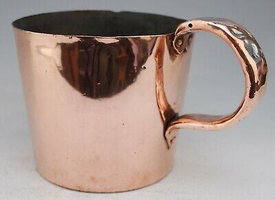 Antique Victorian Copper Royal Navy Grog Rum Gallon Measure Jug Broad Arrow Mark