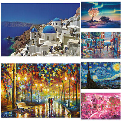 1000 Piece Mini Starry Night Landscape Puzzle Jigsaw Game Toys Gifts Adults New