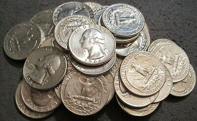 90% Silver Coin Lot 1964 D Washington Quarters**Price Is For (1) One Quarter**