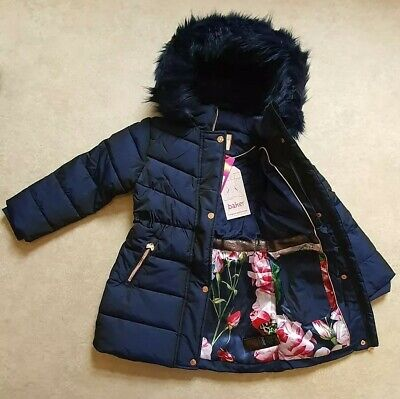 Ted BakerGirls' Navy Padded Shower Resistant Coat Age 8 Years
