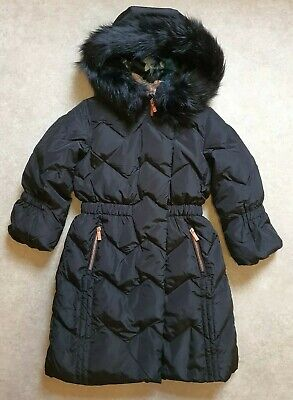 New Ted Baker Girls Black Longline Down Coat/ Jacket Age 12 Years