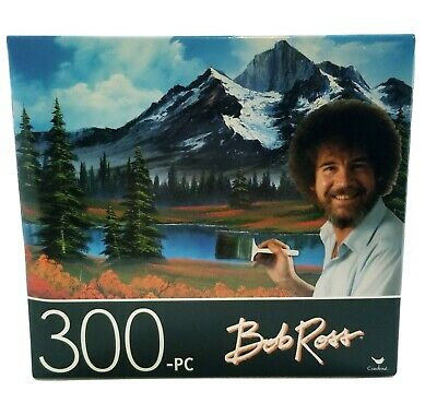 Lot Of 2 Bob Ross 300 Small Piece Puzzles 14x11 Rustic Barn Mountain Hide Away