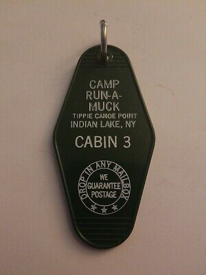 Vintage Motel  Hotel Key Chain Ring Camp Run-A-Muck