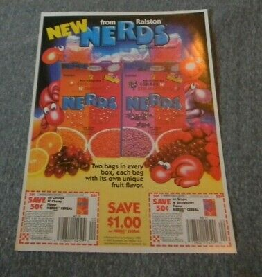 Vintage Ralston Nerds Cereal Coupon Ad 1980's