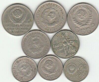 Russia 10 15 20 Kopeks 1932 1946 1957 1967 Lot of 8