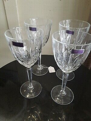 Lot of 4 Marquis by Waterford Crystal  Iced Tea Beverage Glasses 8-3/8""