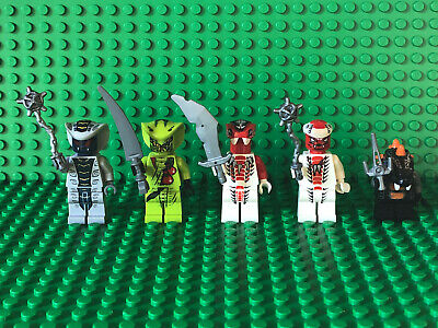 LEGO LOT OF 3 NINJAGO SERPENTINE MINIFIGURES SNAKES RATTLA LASHA AUTHENTIC FIGS