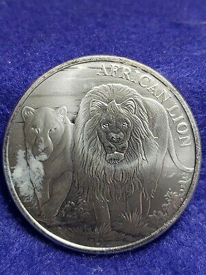 2016 1 oz Silver Congo Lion 5000 Francs UNCIRCULATED - SHIPS FREE