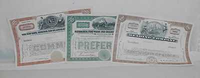 Reading Company Nickel Road Pittsburgh Fort Wayne Chicago Stock Certificates #2