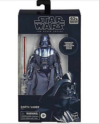 "Star Wars The Black Series 40th Anniversary Carbonized Darth Vader 6"" Pre-Order"