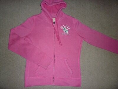 Girls  Pink Hollister Zip-Up Hoodie - Size Large - Excellent Condition