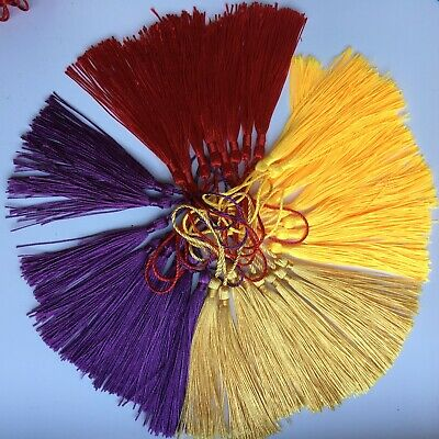 30pcs Fringe Tassel Sewing Finishes Decor Hanging Craft Trim bookmark 4 colors