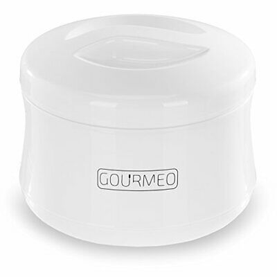 GOURMEO Yoghurt Maker for Greek Yoghurt, Soy Yoghurt, Curd, 1 Litre Volume,