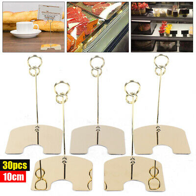 30pcs Metal Photo Holder Stand Table Number/Card/Menu Clip Flat Base For Wedding