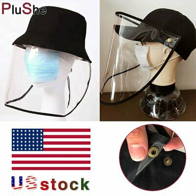 Anti Saliva Transparent Face Shield Hat Splash Dust Proof Full Protection Cover