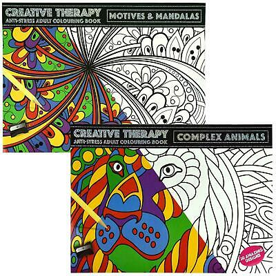 Colour Therapy Mind Relaxing Adult Stress Relief Colouring Book