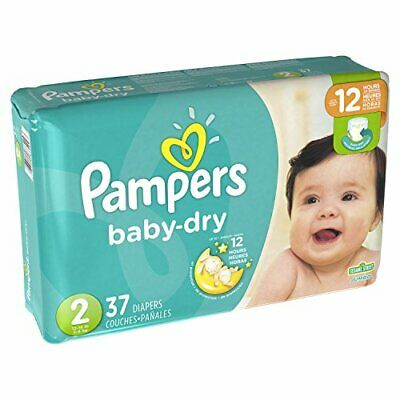 Pampers Size 2 Baby Dry Diaper 37 count per pack 4 per case 3X drier Soft inside